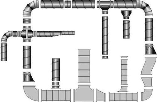 воздуховоды круглого и прямоугольного сечения